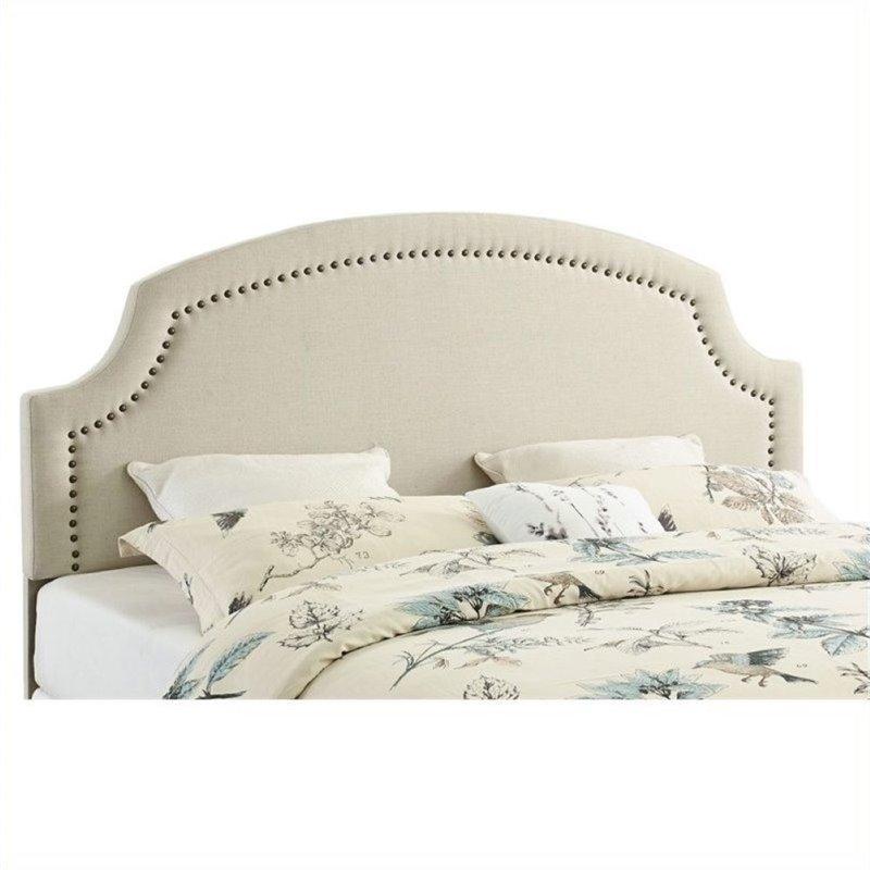 Atlin Designs Upholstered King Headboard in Natural by Atlin Designs