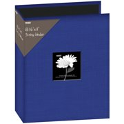 "Fabric 3-Ring Binder Album 8.5""X11""-Blue"