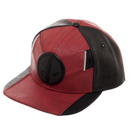 Deadpool Red and Black Uniform Flatbill, Marvel Comics Mercenary Suit Up Snapback](Deadpool Hat)