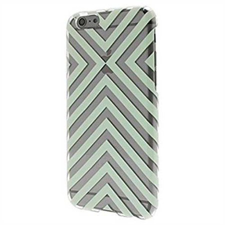 iPhone 6/6S Case - End Scene - Mint Stripe, Clear