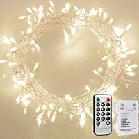 36ft 100 LED String Light [Remote and Timer] IP65 Waterproof 8 Modes Fairy Light for Bedroom, Garden, Easter, Christmas Decoration Warm White