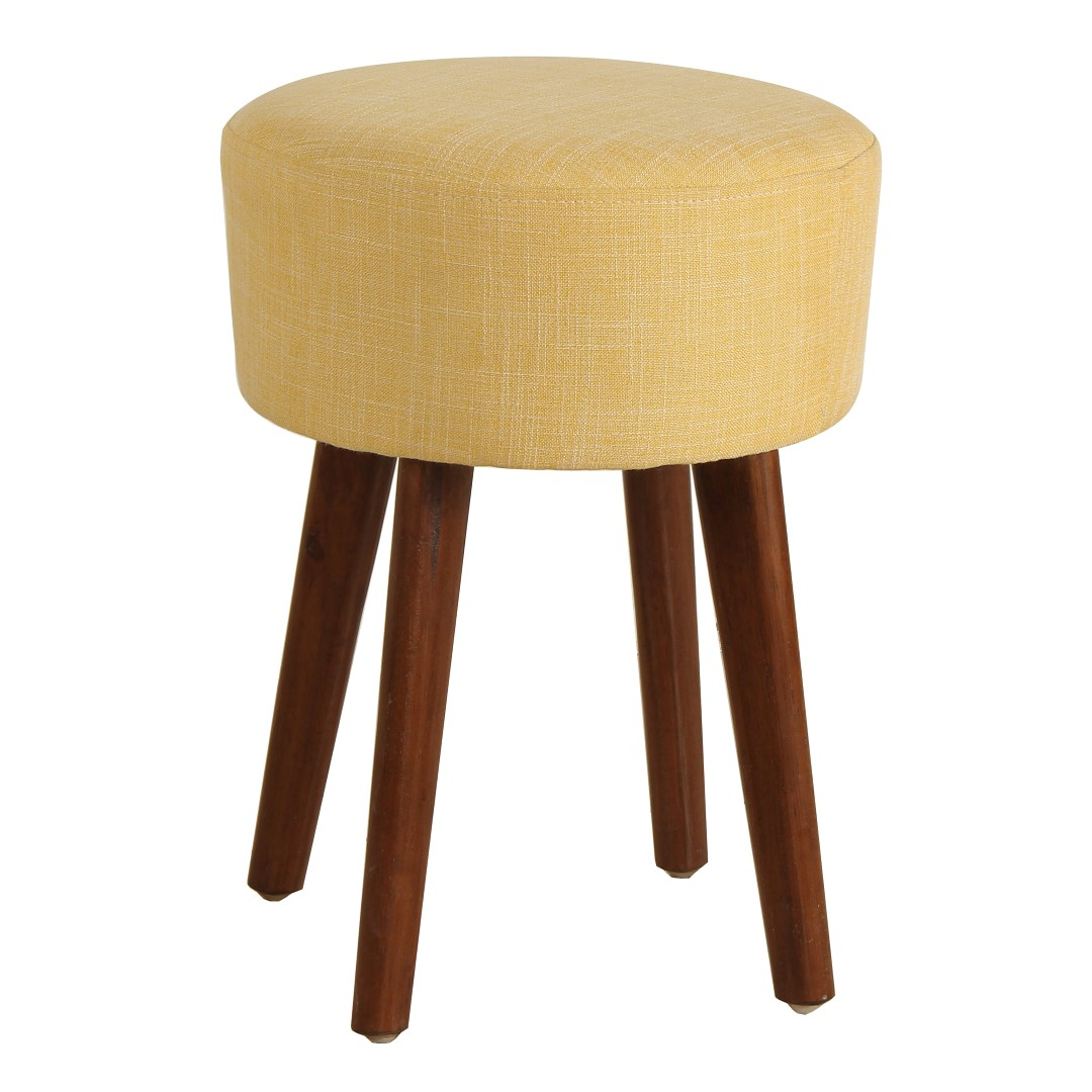 Porthos Home Wallace Linen Upholstered Stool