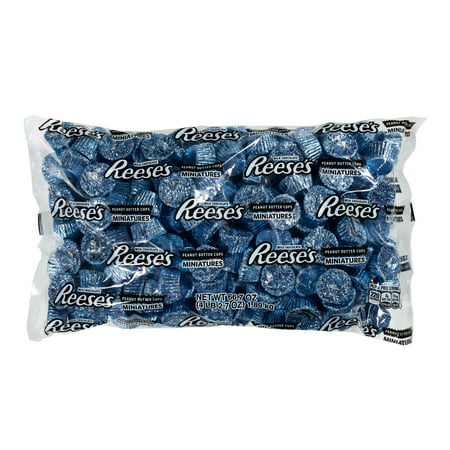 Reese's, Peanut Butter Cups Chocolate Candy Miniatures, Blue Foil, 66.7 Oz - Online - Blue Wrapper Chocolate