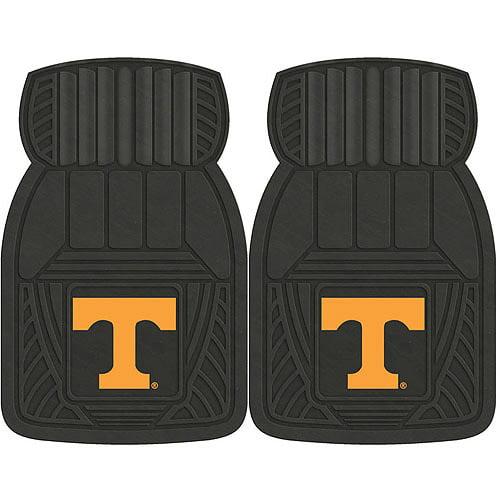 NCAA 2-Piece Heavy-Duty Vinyl Car Mat Set, University of Tennessee