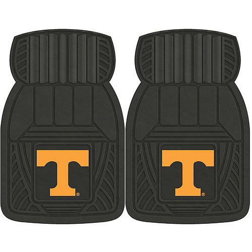 NCAA 2-Piece Heavy-Duty Vinyl Car Mat Set, University of Tennessee
