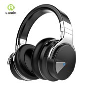COWIN E7 [Upgraded] Active Noise Cancelling Headphones Wireless Bluetooth Headphones with Mic Deep Bass Headsets Over Ear 30H Playtime - Black
