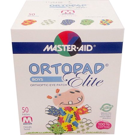 Ortopad Elite Boys Eye Patches - with Glitter Accents, Medium Size (50 Per Box)](Eye Patch Leather)