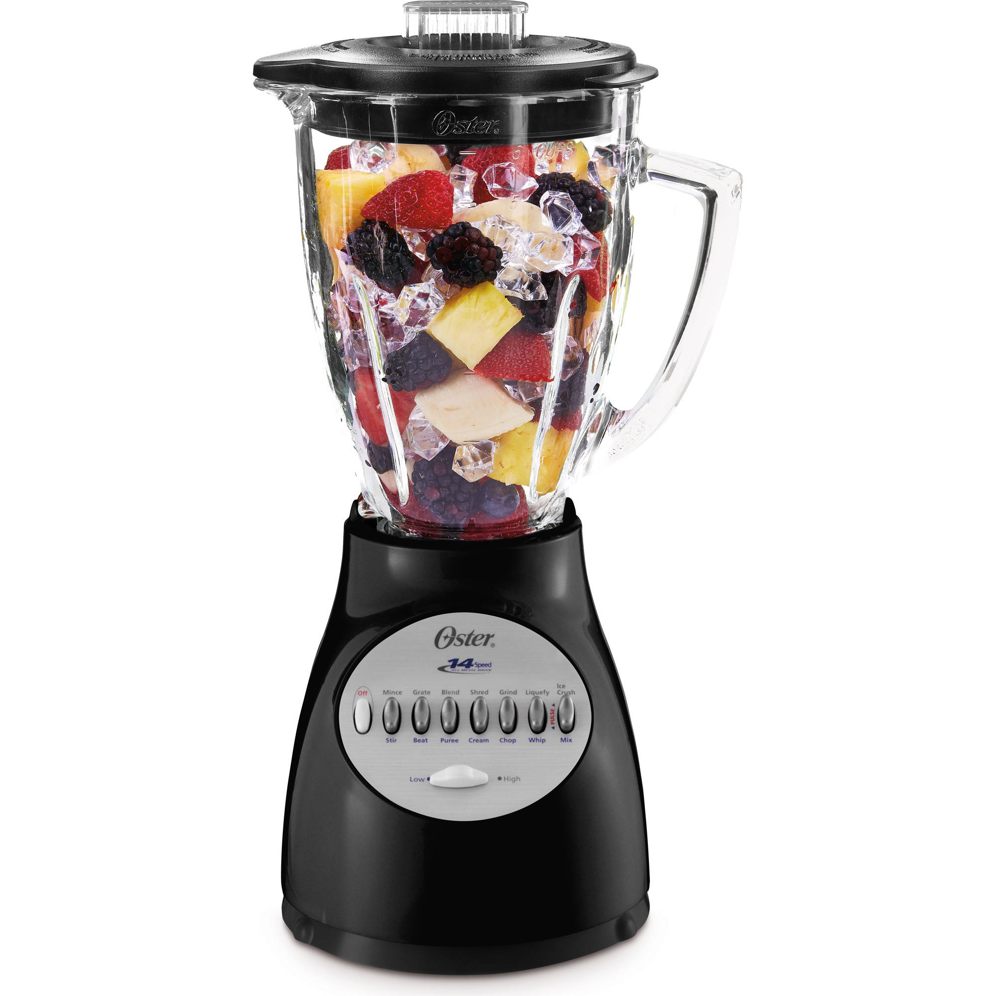 oster 14 speed accurate blend 200 blender 6 cup pitcher glass blade smoothie new ebay. Black Bedroom Furniture Sets. Home Design Ideas