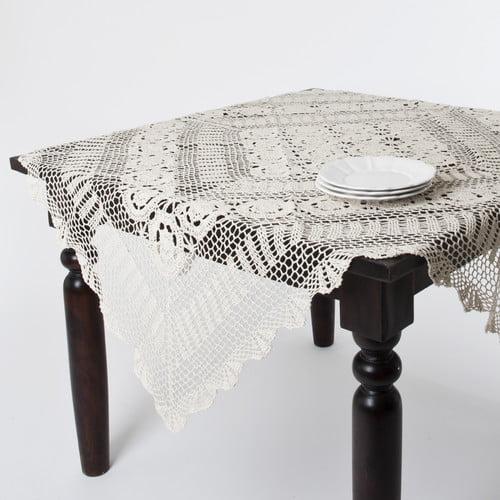 Saro Crochet Lace Table Topper