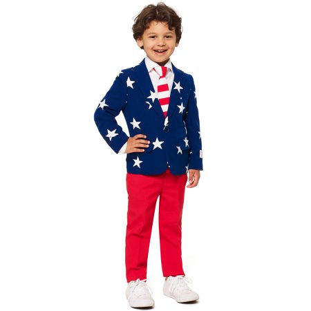 OppoSuits Boys Stars & Stripes Americana Suit