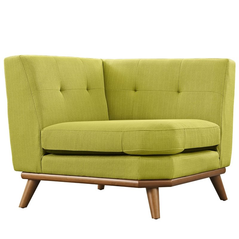 Superb Modway Engage Corner Accent Chair In Wheatgrass