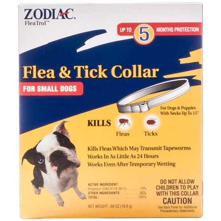 Zodiac Flea Amp Tick Collar For Small Dogs 5 Months
