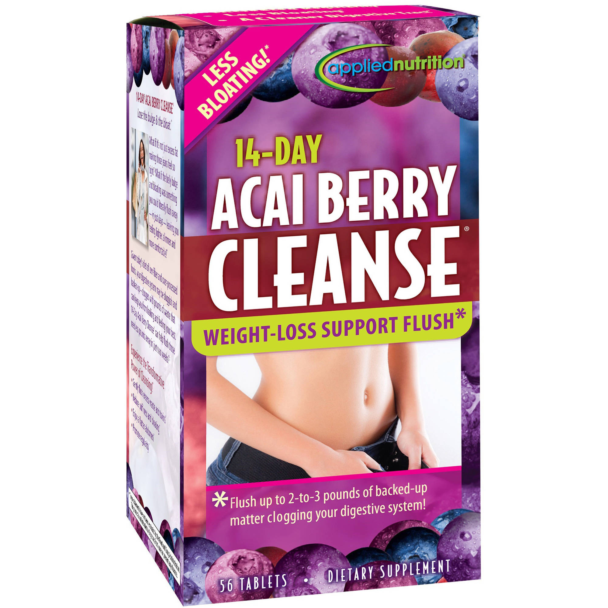 Applied Nutrition Acai Berry Cleanse Tablets, 56 CT (Pack of 4)