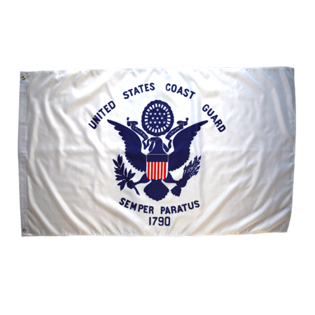 Premium Us Flag (3x5 Foot Coast Guard Flag Double Stitched Us Coast Guard Flag with Brass Grommets | 3 by 5 Foot Premium Indoor Outdoor Polyester Banner Flag)
