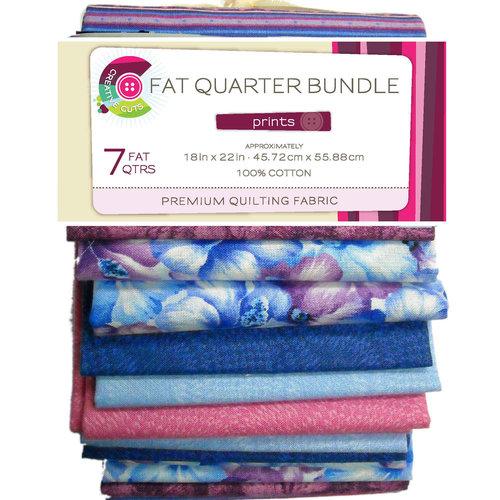 VIP Fabrics Creative Cuts Fat Quarter Bundle, Purple Hibiscus