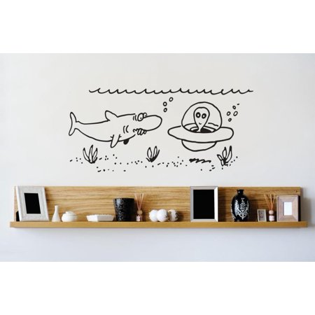 Sticker Underwater Alien Cartoon Image Bedroom Bathroom Living Room