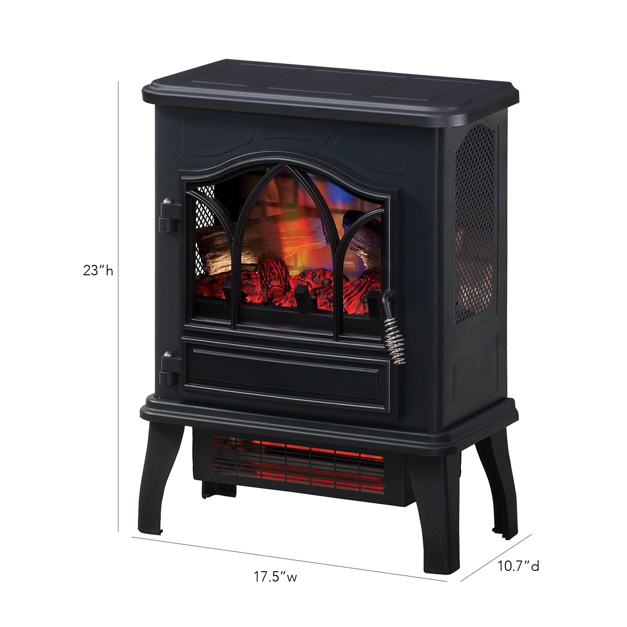 3d infrared quartz electric fireplace stove black walmart com rh walmart com