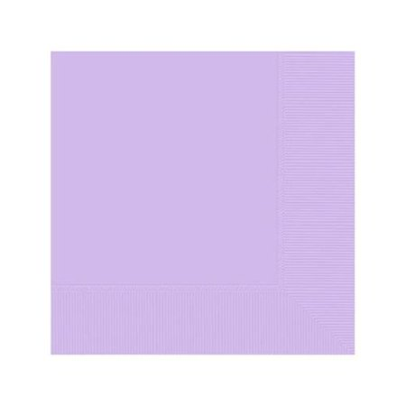 "Amscan Party Ready Disposable 2-Ply Luncheon Napkins Tableware, Lavender, Paper , 6"" x 6"", Pack of 50"