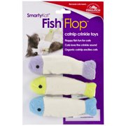 SmartyKat® Fish Flop™ Set of 3 Crinkle Catnip Toys