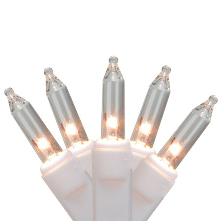 50 Clear Mini Replacement Christmas Lights with Clips for Outdoor Decorations