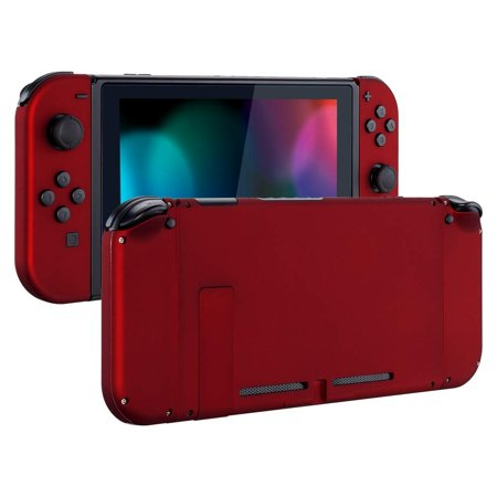Soft Touch Grip Red Back Plate for Nintendo Switch Console, NS Joycon  Handheld Controller Housing with Full Set Buttons,DIY Replacement Shell for