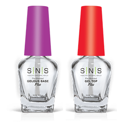 Gel Bases - SNS Nail Prep for Dipping Powder - Gelous Base + Gel Top 2ct