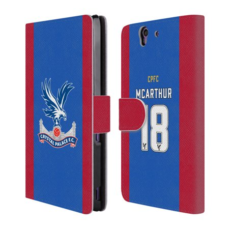 Official Crystal Palace Fc 2016 17 Players Home Kit Leather Book Wallet Case Cover For Sony Phones 1