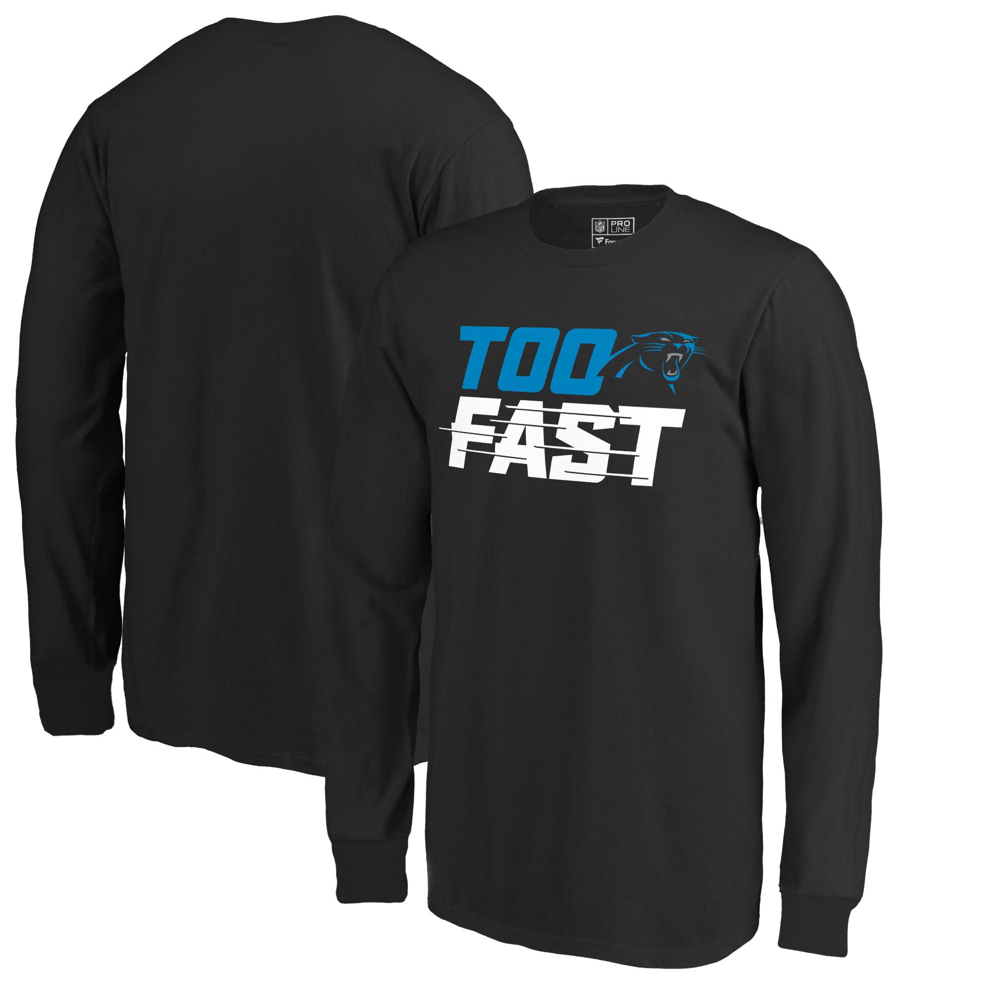 Carolina Panthers Fanatics Branded Youth Too Fast Long Sleeve T-Shirt - Black