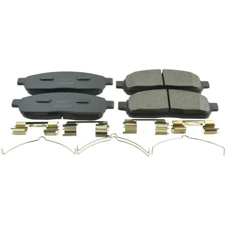 Febest 2101-F150F PAD KIT DISC BRAKE FRONT - KIT, FORD F150/F250/F350 2004-2014,  OEM 4U2Z-2V001-DA (F150 Brake Pad)