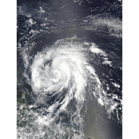 Hurricane Maria Approaching The Leeward Islands Poster Print By Stocktrek Images