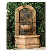 """John Timberland Rustic Outdoor Wall Water Fountain 50"""" High Tiered Tuscan Village for Yard Garden Patio Deck Home"""