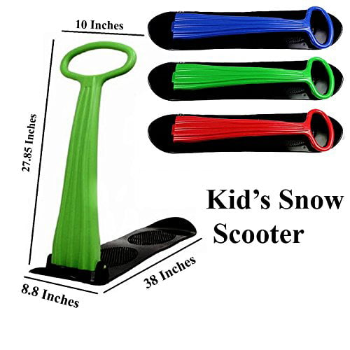 e-Joy Kids Snow Scooter Ski Scooter Fold-up Snowboard Sledge Folding Sliding Ski Snowboard with Grip Handle Snow Sled,... by