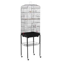 """62"""" Yaheetech Rolling Bird Cage w/ Black Stand & Perch for Parrot & Finch"""