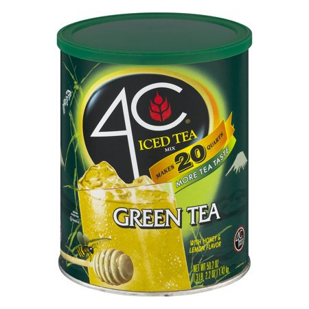 (6 Pack) 4C Drink Mix, Green Tea, 50.2 Oz, 1 Count for $<!---->