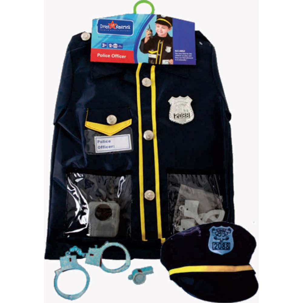 Police Officer Role Play Kids Costume