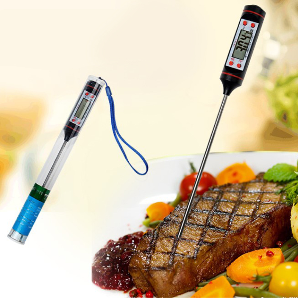 Digital Food Thermometer with Probe Instant Read Cooking Thermometer for Kitchen BBQ Grill Fry Food Meat