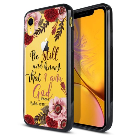 FINCIBO Slim TPU Bumper + Clear Hard Back Cover for Apple iPhone XR 6.1