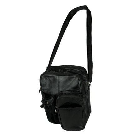 Giromy Samoni Genuine Leather Crossbody Bag with Water Bottle Holder