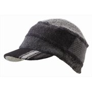 Icebox Xob 863-13 Knit Cap Standard Visor - Black & Grey, Medium-Large
