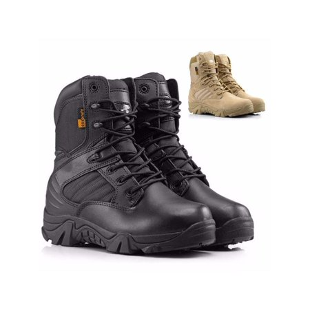 0c5c37af77c Men's Army Tactical Comfort Desert Leather Combat Boots Military Soldiers  Shoes