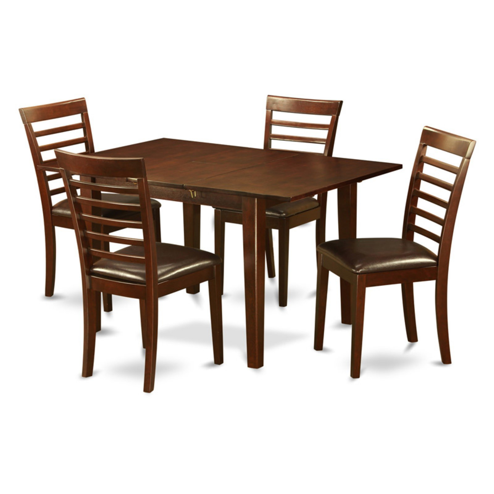 East West Furniture Picasso 5 Piece Straight Ladderback Dining Table Set