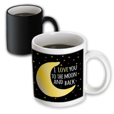 3dRose I love you to the moon and back - cute saying with triangle stars - Magic Transforming Mug, 11-ounce](Cute Halloween Sayings For Teachers)