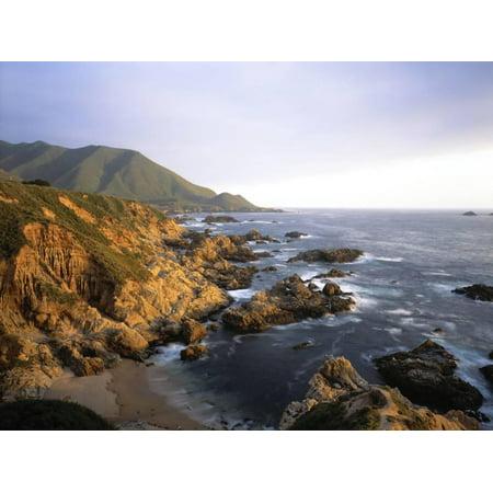 Waves Breaking on Garrapata Beach on the Big Sur Coast of California Print Wall Art By Green Light