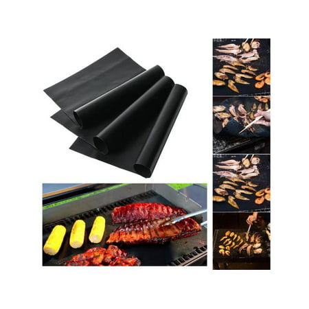 APGtek Grill Mat - Set of 3 Non Stick BBQ Grill Mats - Heavy Duty, Reusable, and Easy to Clean