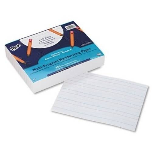 Pacon Handwriting Paper Tablet, Grades Pre-K and K, Multi-Program, Ruled Long, 500 Sheets