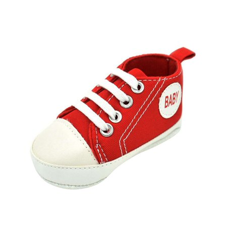Lavaport Baby Kids Canvas Sneakers Boy Girl Soft Sole Shoes