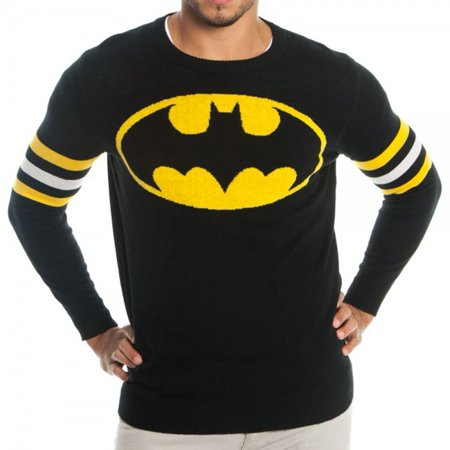 Batman Logo DC Comics Adult Knit Pullover Sweater - Batman Sweater
