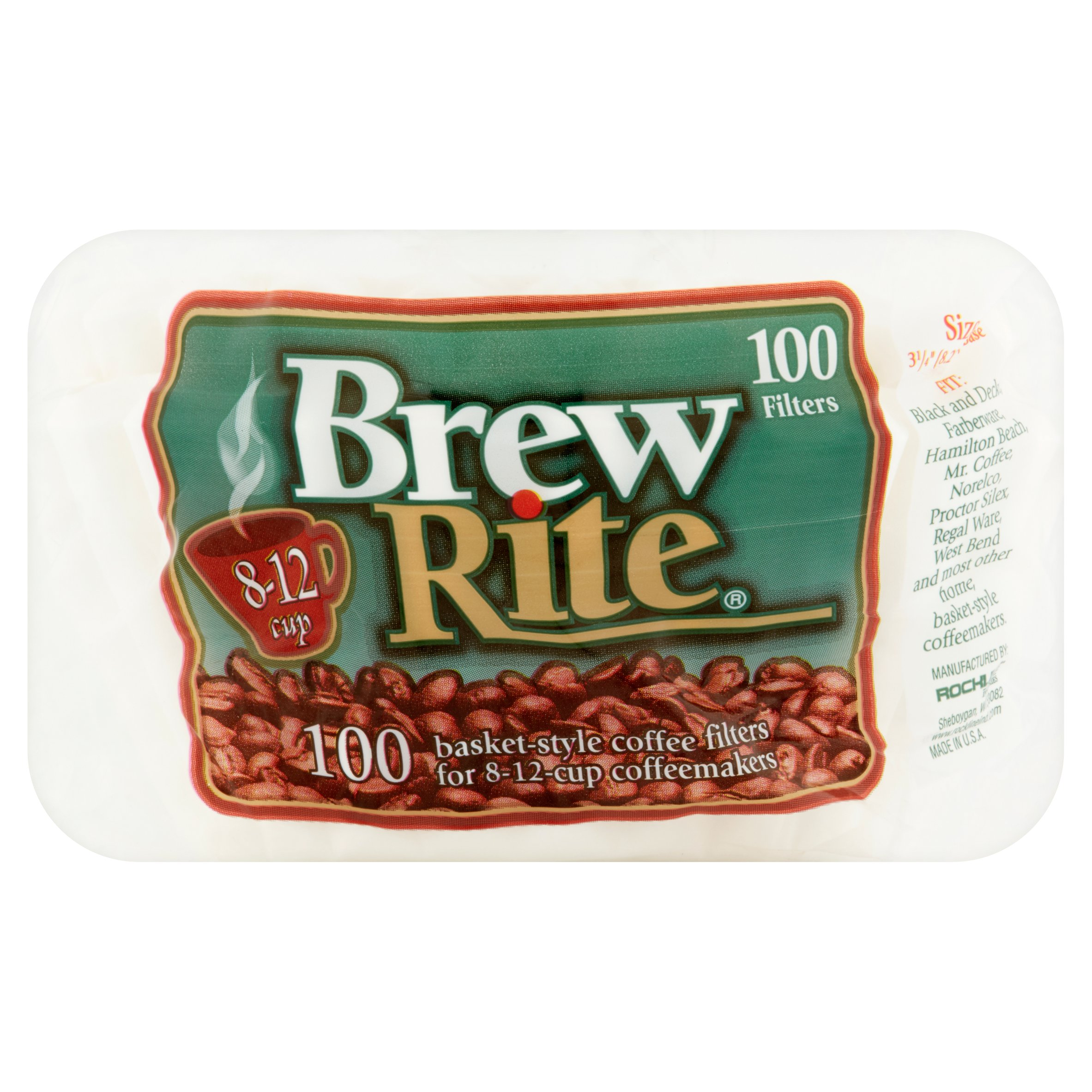 Brew Rite 12-Cup Drip-Style Coffee Filters, 100 count by Rockline® Industries