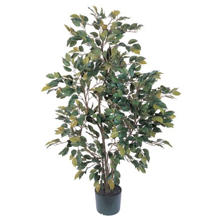 4' Silk Tree - Nearly Natural 4 ft. Ficus Silk Tree