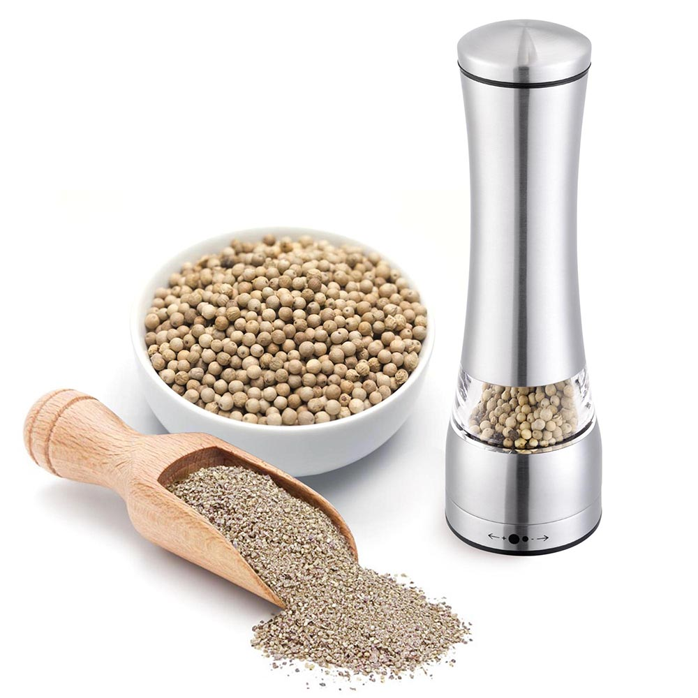 Click here to buy Yescom Stainless Steel Ceramic Burr Manual Pepper Grinder Shaker Salt Spice for Cooking Kitchen Food Mill by Yescom.